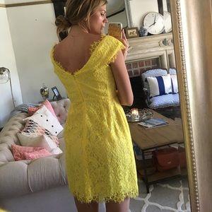 Shoshanna Dresses - Shoshanna Yellow Lace Dress size 4